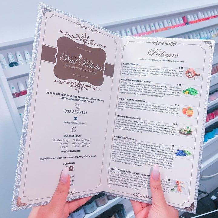 6 Lý do tại sao chọn menu thay cho price list tại tiệm nail