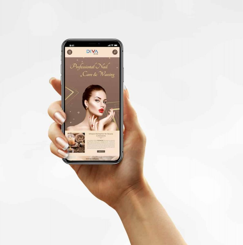 website salon thân thiện với mobile phone