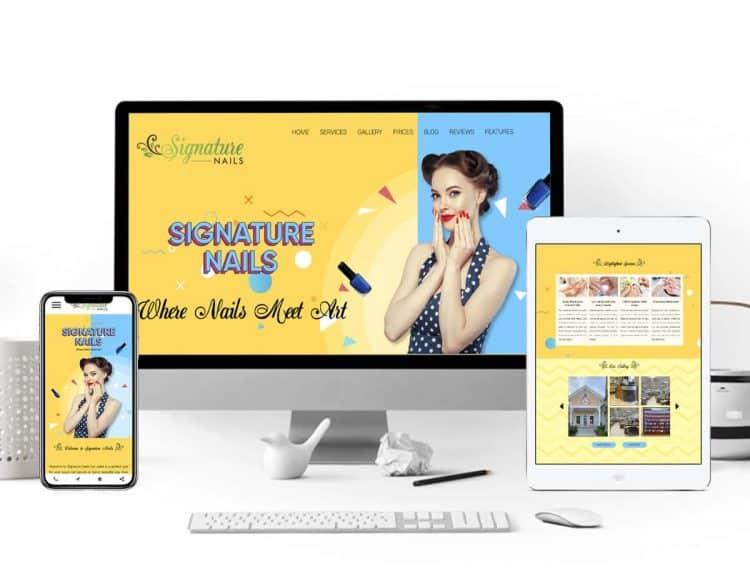 website salon load nhanh