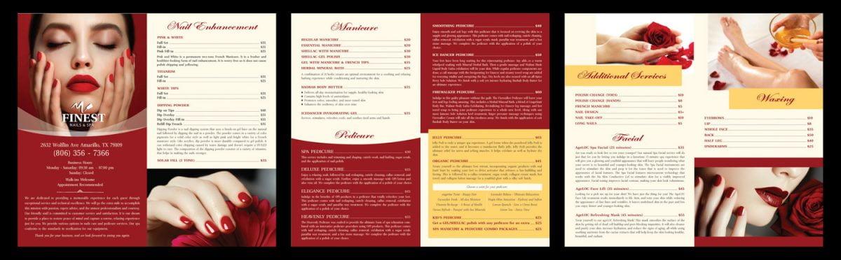 modern red menu