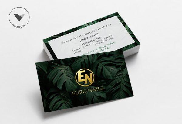 Foiled Metallic Business Card